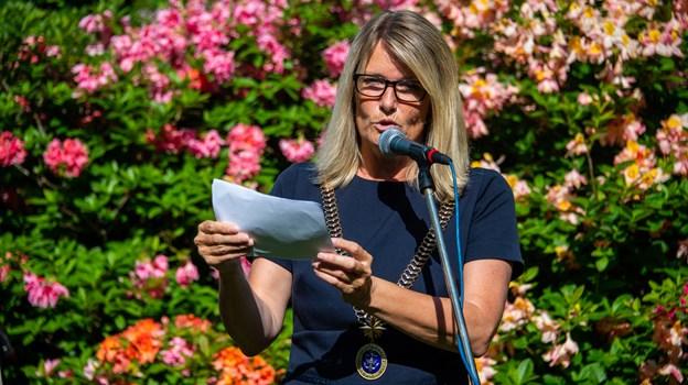 Borgmester Birgit Hansen - nyoptaget i Kraks Blå Bog - holder som sidste år åbningstalen. Foto: Kim Dahl Hansen Foto: Kim Dahl Hansen
