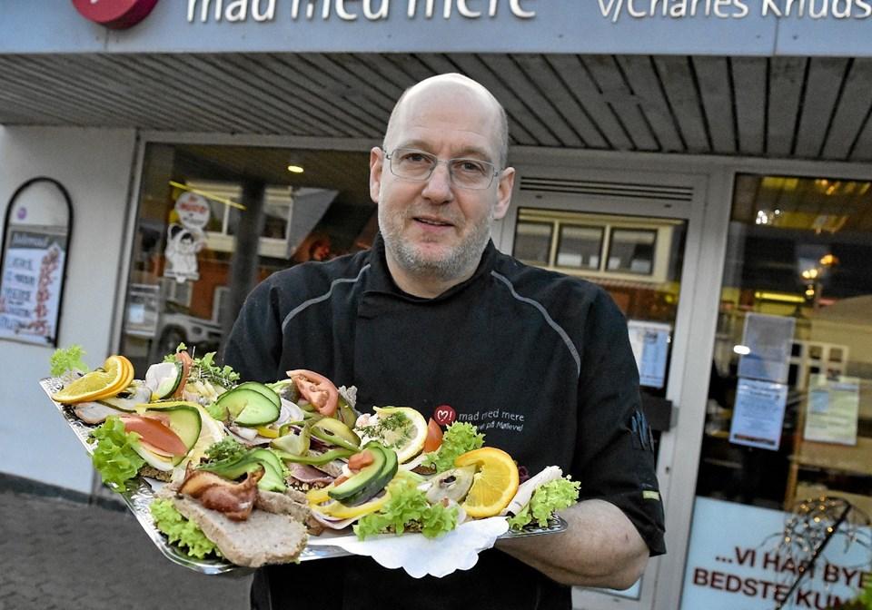 Lækkert smørrebrød til natmad fra Charles og Slagteren på Møllevej. Værdi 350 kroner. Foto: Ole Iversen Ole Iversen
