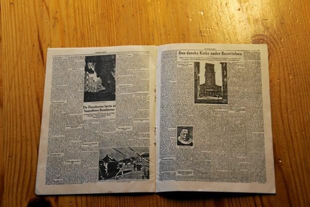 I sammenfoldet udgave måler den lille avis blot 10 gange 13 cm. Er der nogen som ved noget om miniudgaven hører Elly Christensen meget gerne om det. Foto: Hans B. Henriksen Hans B. Henriksen