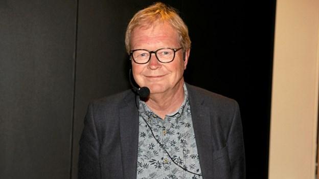 Ulrik Wilbek gav gode råd og anekdoter til de mange fremmødte i Sport og Kulturcenter Brovst. Foto: Flemming Dahl Jensen