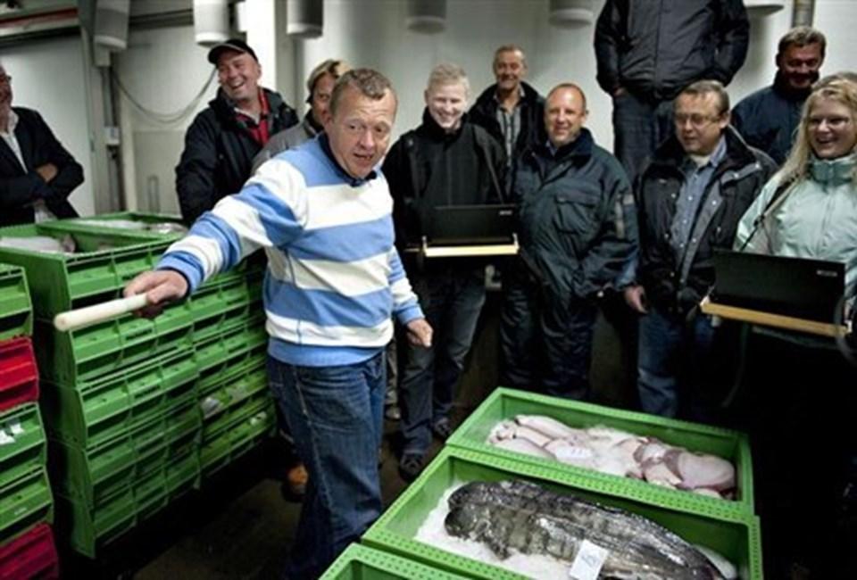 Statsministeren var bagefter meget godt tilpas med sin indsats. Foto: Henning Bagger/SCANPIX