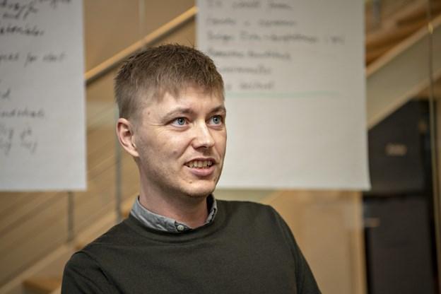 Morten Givskov fra byggefirmaet Richardt Thomsen vil tage kurset til sundhedsambassadør. Foto: Kurt Bering Kurt Bering