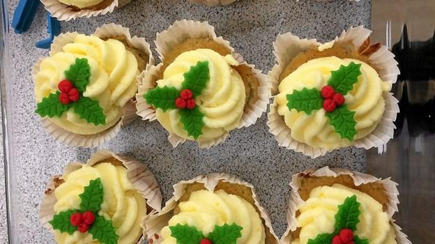 Jule Appelsin muffins lavet af Heidi Worum og Ina. Foto: Privatfoto Privatfoto