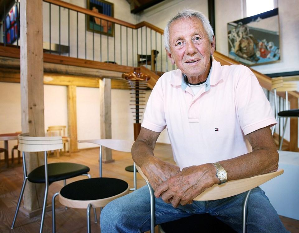 Rud Thygesen besøgte Hobro i 2007 i forbindelse med en udstilling om dansk møbelkunst - heriblandt Thygesens egne møbler.      Arkivfoto: Foto Jens Morten