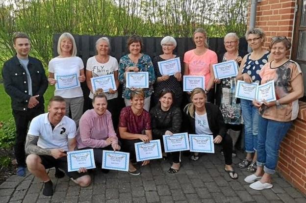 Alle deltager fik et diplom som bevis på gennemført challenge.Privatfoto