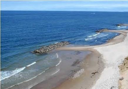 En illustration af udførte bølgebrydere inklusive strandfodringen.