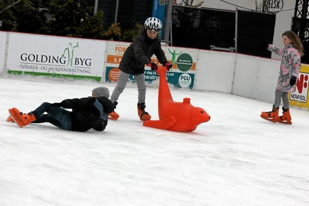 Is og skøjter har været et stort hit i Blokhus Foto: Flemming Dahl Jensen Flemming Dahl Jensen