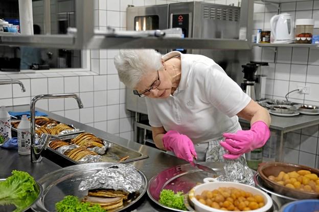Køkkenet er også blevet indrettet med bedre anretterfaciliteter. Foto: Niels Helver Niels Helver