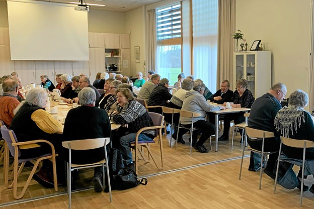 Omkring 60 borgere havde indfundet sig til arrangementet. Privatfoto Allan Mortensen