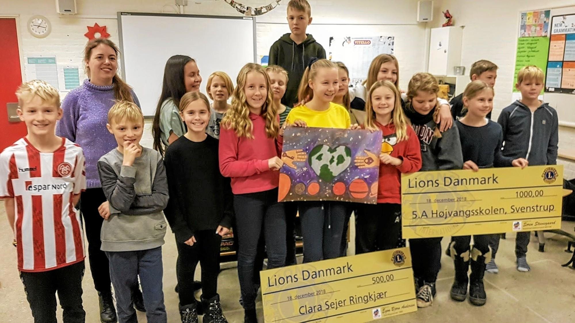 Clara vandt Lions' tegnekonkurrence