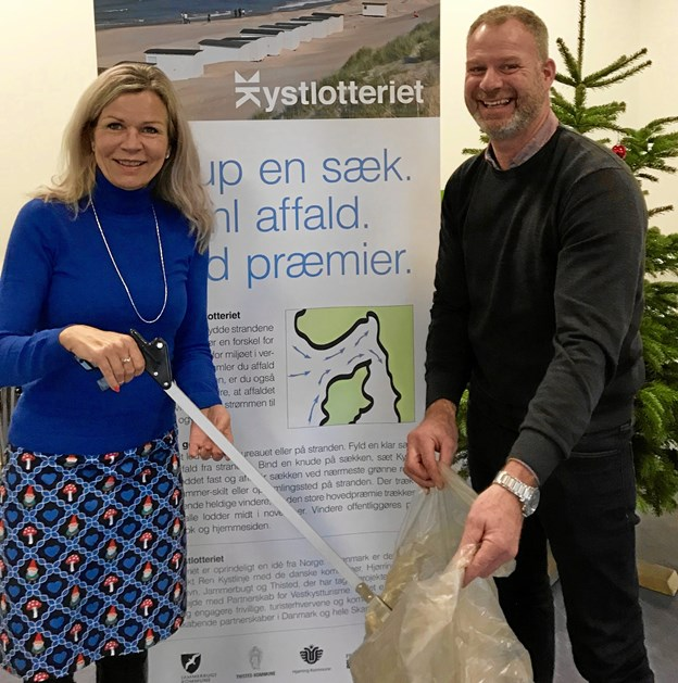 Laila Zielke og Niels Jørgen Pretzmann er imponerede over den succes, Kystlotteriet har været. Privatfoto
