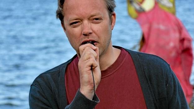 Formanden for Søndersognenes Borgerforening, Christen Birkebæk bød alle velkommen. Foto: Hans B. Henriksen Hans B. Henriksen