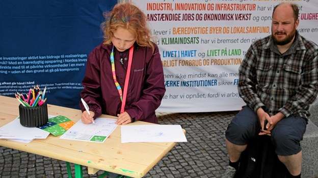 Der var også tegne konkurrence for børn. Foto: Flemming Dahl Jensen Flemming Dahl Jensen