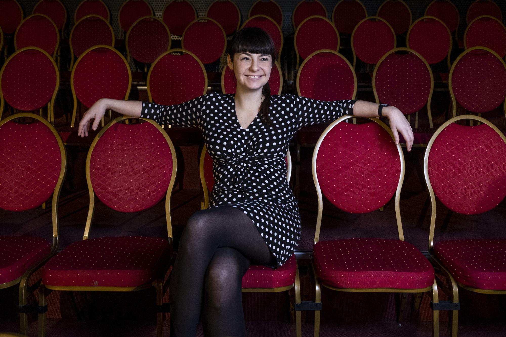 29-årige Malene Nielsen flyttede til Aalborg for at læse - men fællesskabet på Skråen fik hende til at blive. Foto: Lasse Sand