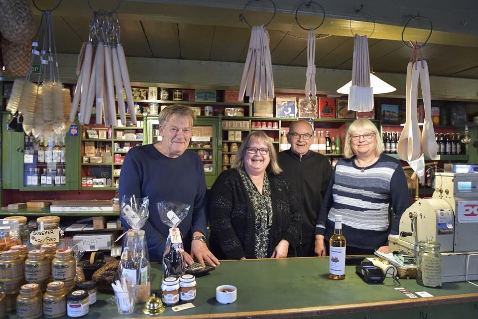Fra venstre Keld Ottosen, Merete Krage, Kay Hougaard Pedersen og Lisbeth Ottosen. Foto: Bente Poder
