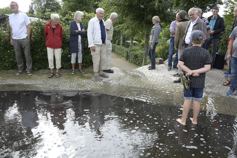 Godt 40 lodsejere på fire villaveje i Bjergby ved Hjørring har samarbejdet med Hjørring Kommune og Hjørring Vandselskab om at klimasikre deres lokalområde. Foto: Bente Poder