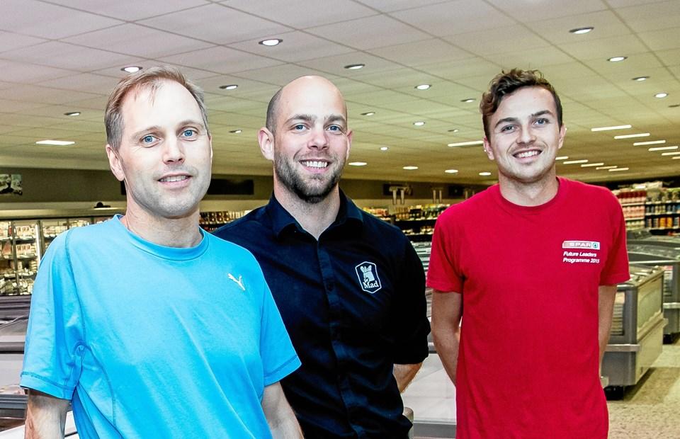 Jens Andersen (t.v.), Anders Nyby og Kristian Rysgaard Stærk bliver de nye ejere af butikken i Bedsted. Arkivfoto: Diana Holm