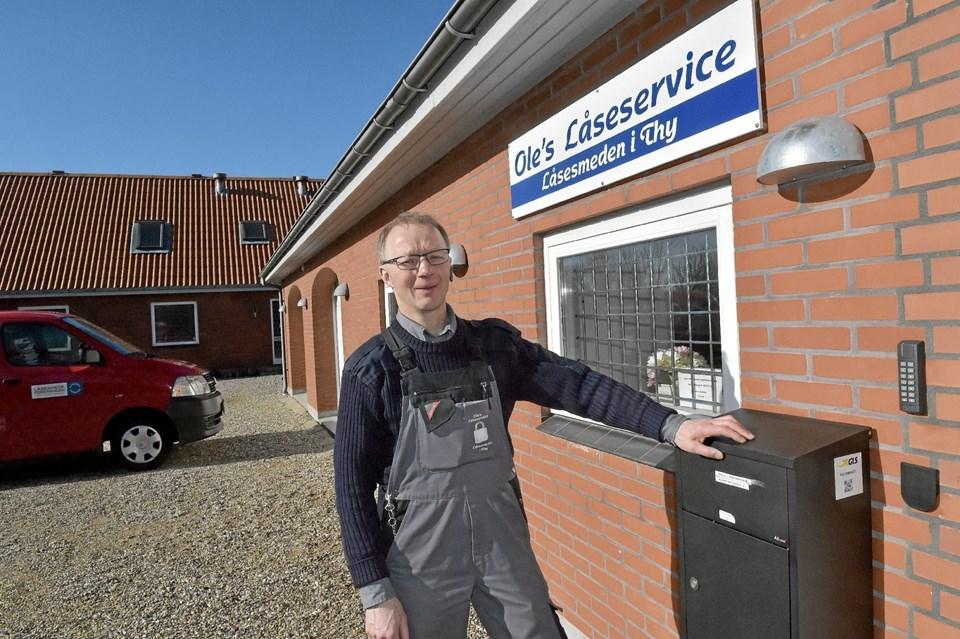 Oles Låseservice har fået alt den plads der er brug for på Hanstholmvej 6. Foto: Ole Iversen