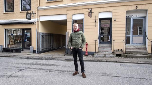 Det var i det daværende Ølkonsortiet her i Rantzausgade, Fredrik Hector Schmidt for alvor fik øjnene op for øllets verden. Foto: Henrik Bo