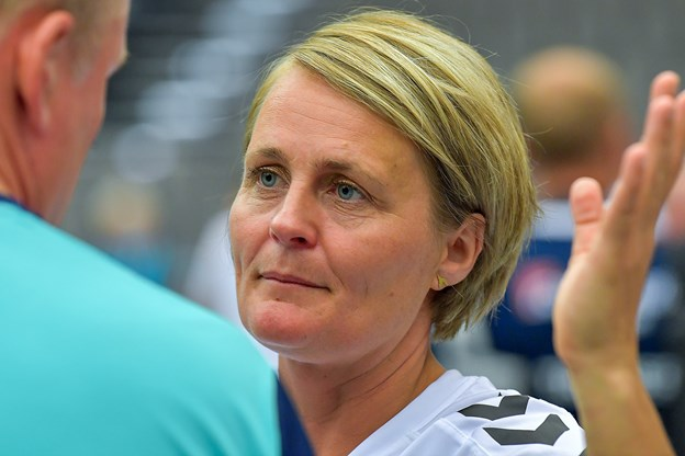 Rikek Nielsen træner med Kanon Kidz onsdag