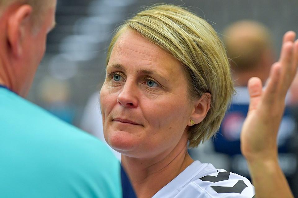 Tidligere landsholdspiller Rikke Nielsen holder foredrag i Skalleruphallen 17. januar - her fortæller hun bland andet om Lykkeliga. Arkivfoto