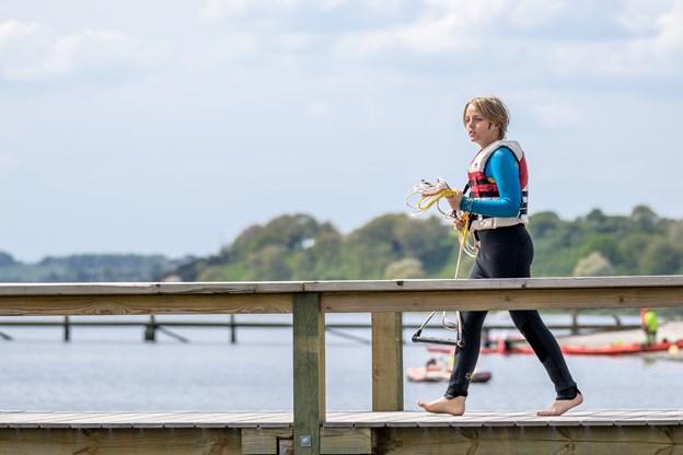 Vandskiklubben ved Bramslev Bakker har standerhejsning. Foto: Nicolas Cho Meier