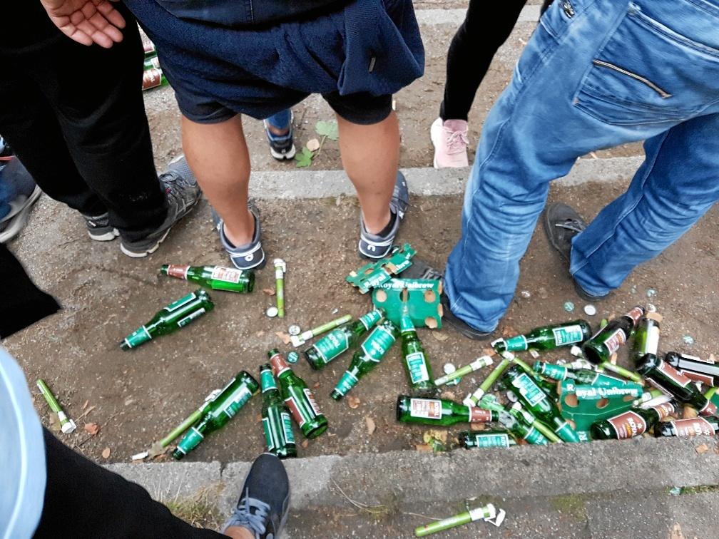 Der blev solgt op mod 25.000 flaskeøl i løbet af fredag aften, vurderer leder af Skråen Jørgen Nissen.Foto: Jens Michno