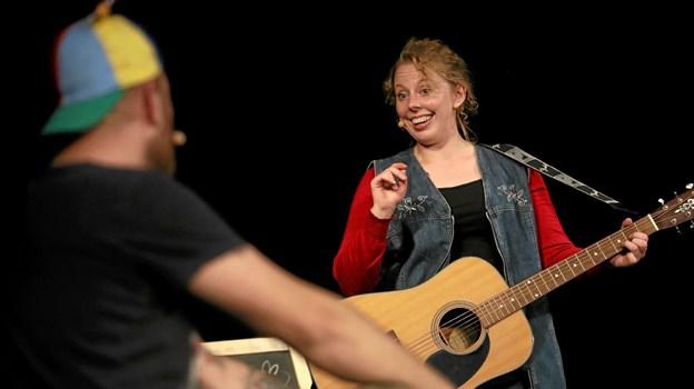 Caroline Ramskov var med i Hals Revyen for første gang. Foto: Allan Mortensen