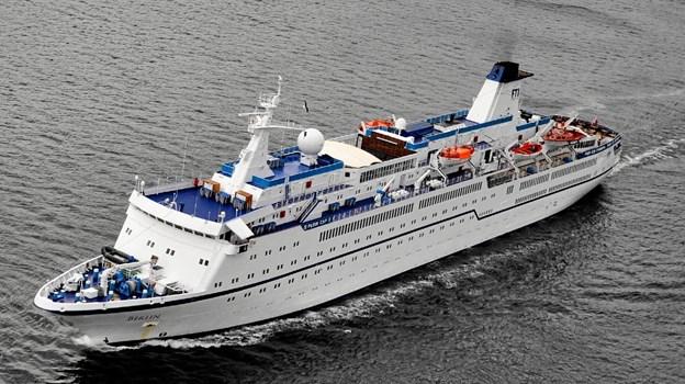 Cruiseskibet MS Berlin ankommer i sommeren 2020. Foto: Frode Adolfsen Ole Iversen