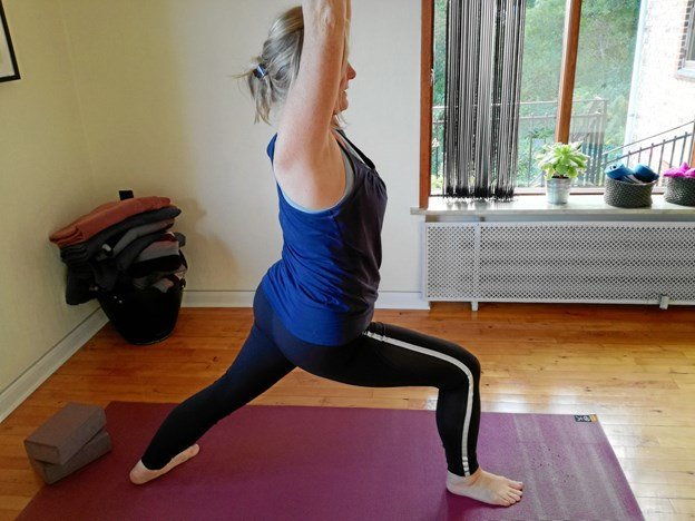Yoga er også for mænd, mener Helle Høgh Mogensen, Hobro.   Privatfoto