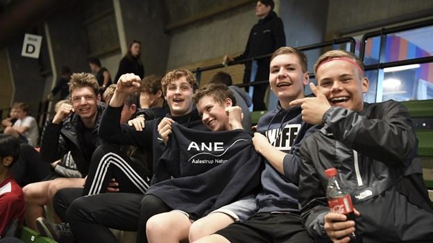 Eleverne kom fra Vesterbølle, Farsø, Thorsgaard, Rebild og Aalestrup Naturefterskole (billedet). Foto: Mette Nielsen