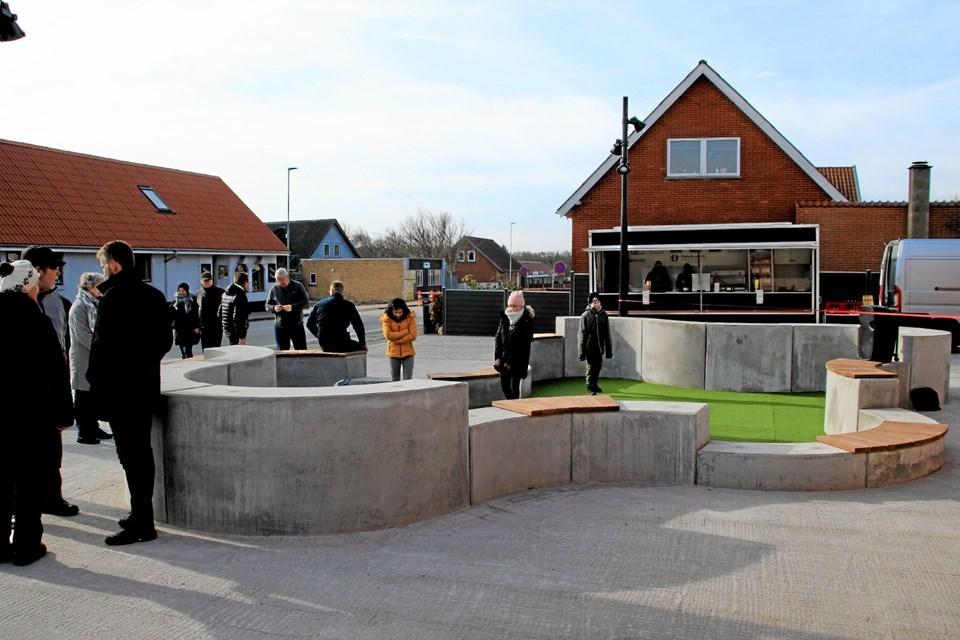 Pladsen er blevet et smukt sted i Bedsted. Foto: Hans B. Henriksen