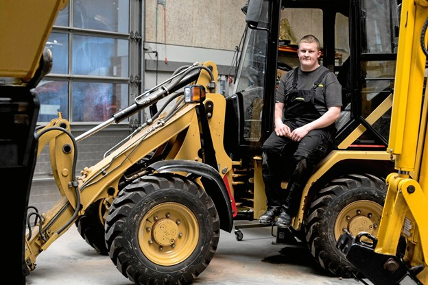 Henrik Drastrup, Arden - en af fire kandidater til titlen som Danmark bedste mekanikerlærling inden for entreprenørmaskiner.   Privatfoto