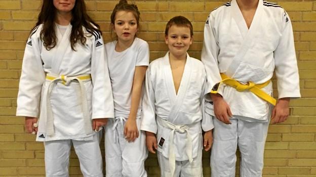 De seje unge kæmpere fra Skagen har igen været til stævne. Privatfoto.