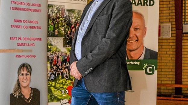 Kristian Haldrup havde fået til opgave at styre den politiske diskussion i Overlade. Foto: Mogens Lynge Mogens Lynge