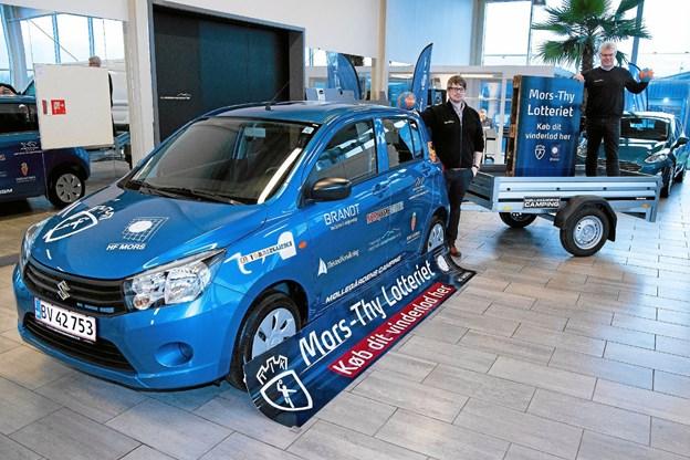I år er det en VW Up fra Volkswagen Thisted - Nykøbing Mors, der er hovedpræmien i Mors-Thy Håndbolds lotteri. Arkivfoto fra 2018 lotteri