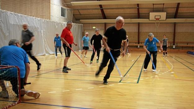 Hockey er en både god og sjov form for socialt samvær. Foto: Folmer Damm Pedersen