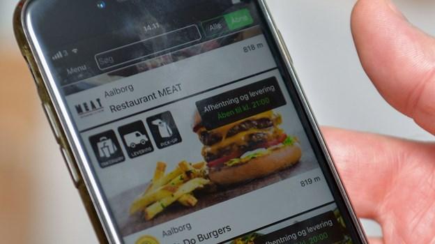 Man kan bestille alt fra kvalitetsburgere til smørrebrød via Waiteer-appen. Foto: Claus Søndberg