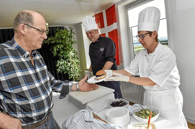 Flæskestegs sandwich var også populær. Foto: Ole Iversen