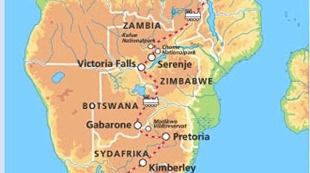 Turen gennem det sydlige Afrika var en stor oplevelse.