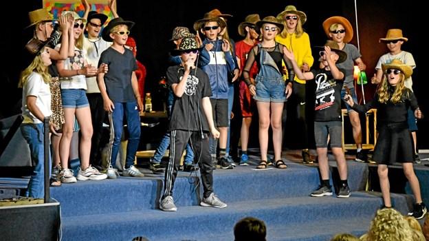 5. klasserne har dannet et rock-kor. Foto: Niels Helver Niels Helver
