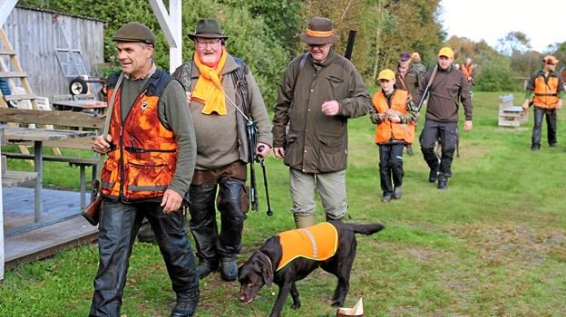 Jægerne kommer hjem fra dagens jagt. Foto: Flemming Dahl Jensen