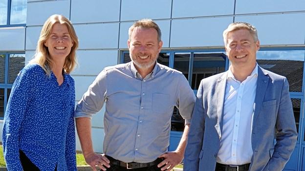 Brüel Systems har udvidet sin ledelse. Fra venstre ses: CCO, Jane Jacobsen, CTO Michael Wøhlk og CSO, Lars Juhl Hansen.