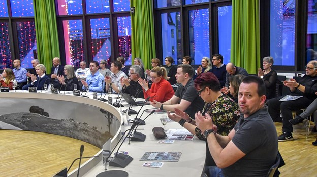 Tirsdag morgen holdt Hjørring Handel nytårskur.Foto: Kurt Bering