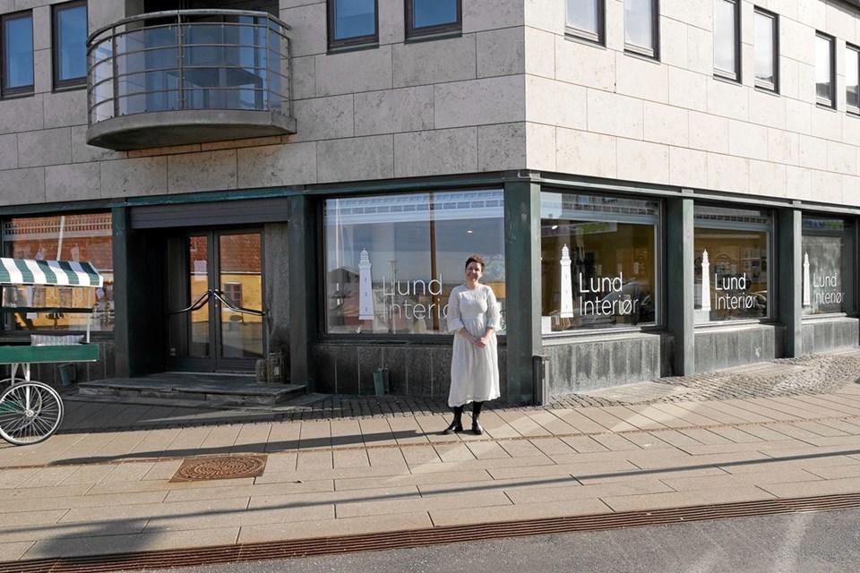 I lokalerne hvor Kop & Kande tidligere har ligget, var Kristina Ølgaard Johansen klar til at åbne dørene til Lund Interiør for første gang. Foto: Peter Jørgensen Peter Jørgensen