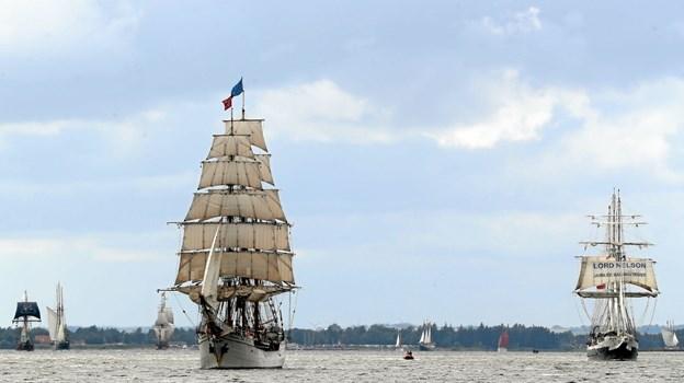 Tall Ships Race satte også sit præg på Hals. Foto: Allan Mortensen