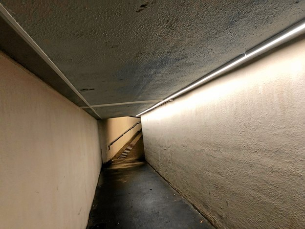 Så er der kommet lys i den lille tunnel i Vrå.Foto: Thomas Nielsen