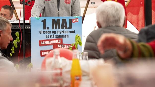 Morten Klessen på talerstolen. Foto: Laura Guldhammer Foto:  Laura Guldhammer