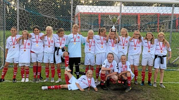 Sådan ser Jyllands sejeste fodboldpiger ud! Foto: Privat Privat
