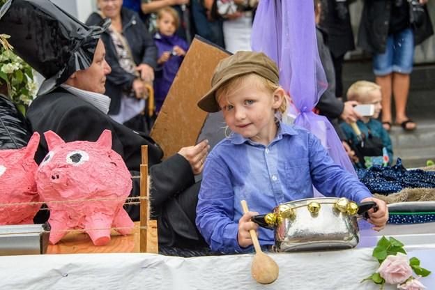 Børnefest i Mariager.Foto: Peter Broen